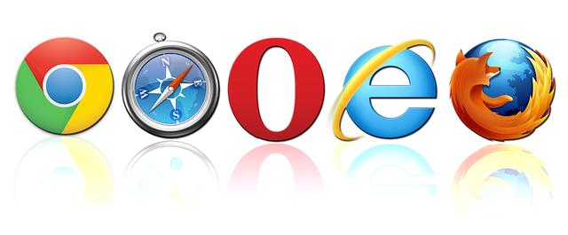 ikony internetových vyhledávačů